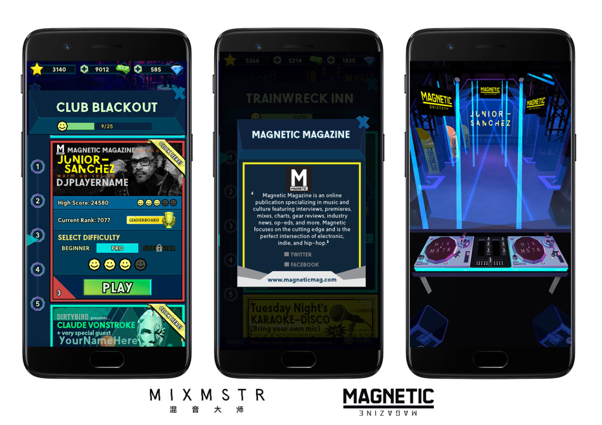 Magnetic Launches Club Event In DJing Mobile Game MIXMSTR