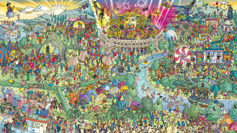 "Find Daft Punk in This ""Where's Waldo"" Style Festival Map"