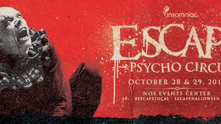 escape psycho circus looks to be the biggest halloween party on the
