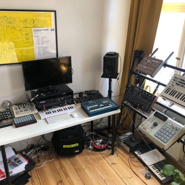 Cromby's studio