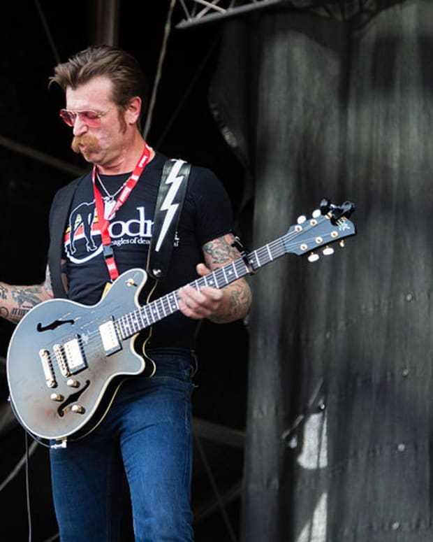 Jesse Hughes from the Eagles of Death Metal at the Nova Rock 2015 (photo by Alfred Nitsch)
