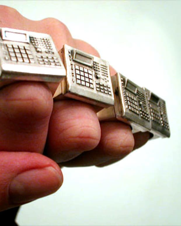 EDM Culture Bling: Drum Machine Ring by Bill McMullen