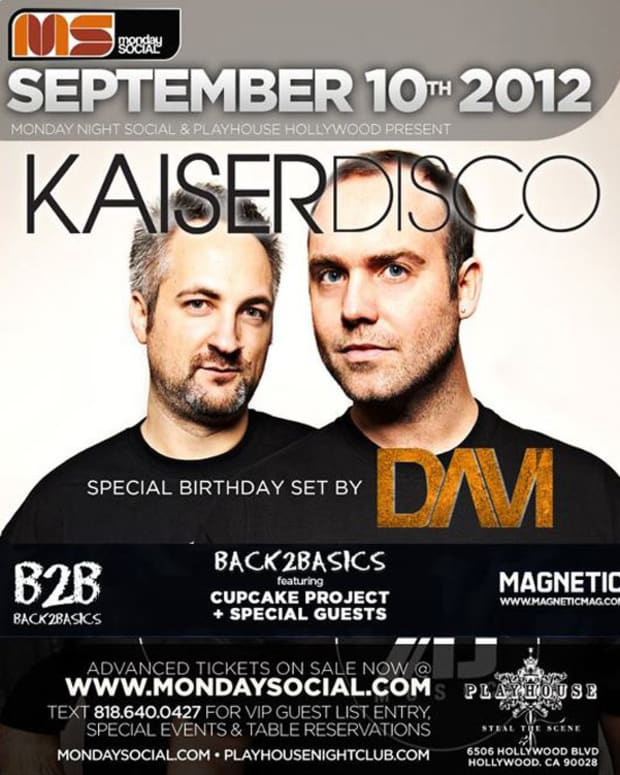 Party Tonight: Monday Night Social with Kaiser Disco, Davi, Cupcake Project and Special Guests
