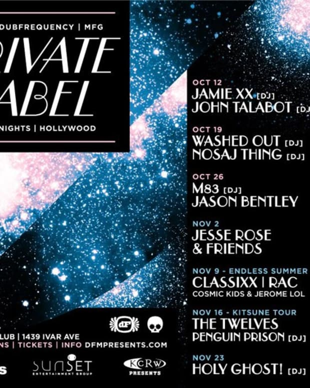 Hey Los Angeles: New Friday Night at Lure—Jamie XX, M83, Jesse Rose & Friends, Classixx, the Twelves, Washed Out, Nosaj Thing and More