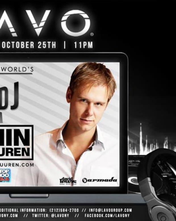 DJ Magazine's Top Man, Armin van Buuren Playing LAVO NY This Thursday