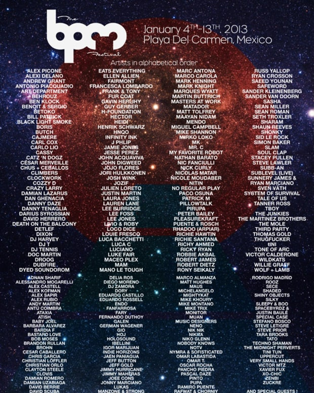 BPM Festival's Final Artist Lineup & Day/Night Events Schedule