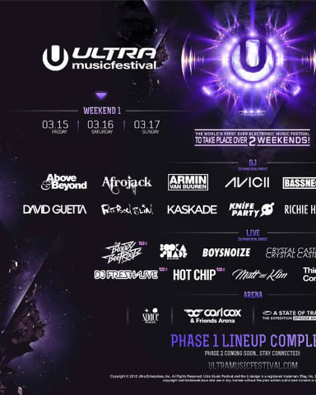 Ultra Music Festival Phase 1 Lineup
