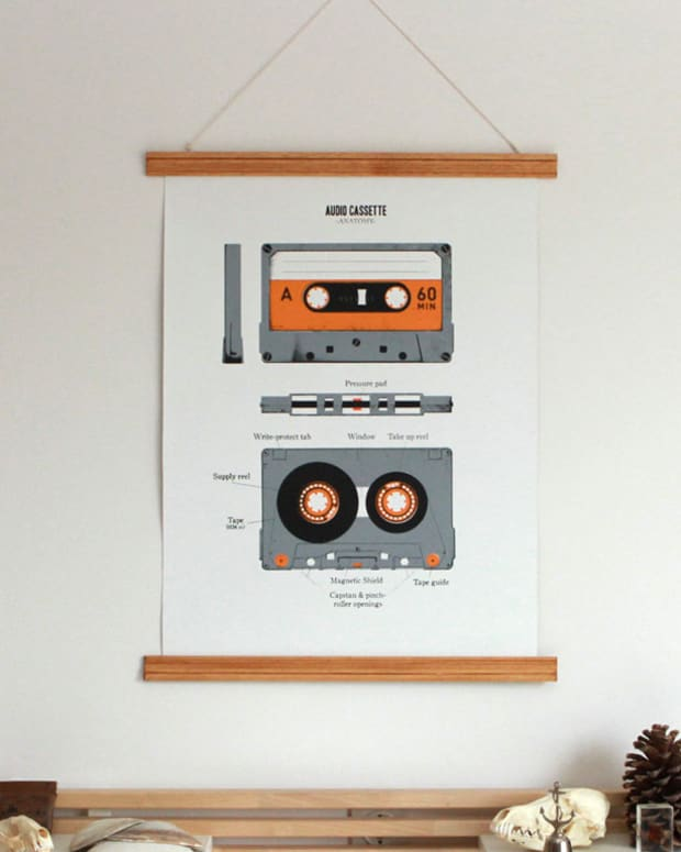 "Want: The ""Audio Cassette Anatomy"" by Atelier Défense D'Afficher"