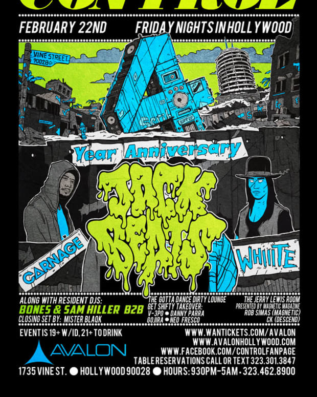 Los Angeles Event: Control Los Angeles 4 Year Anniversary with Jack Beats, Carnage and Whiiite