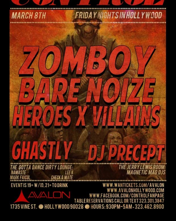 Los Angeles: Control Tonight with Zomboy, Bare Noize, Heroes x Villains, Ghastly and DJ Precept—Discount List