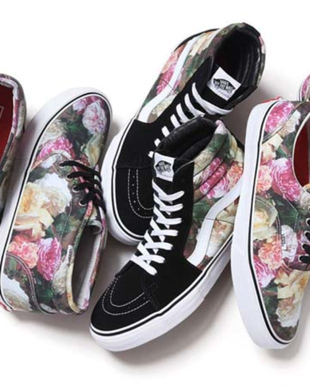 "Supreme x Vans = ""Power, Corruption & Lies"" New Order's Iconic Album Cover by Peter Saville Plastered on Shoes"