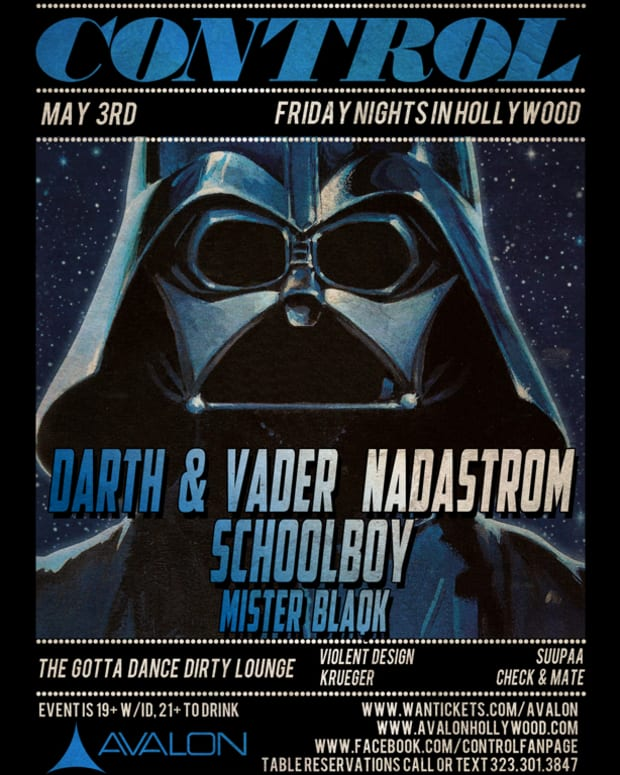 Ticket Giveaway: Control at Avalon with Darth & Vader, Nadastrom, Schoolboy and More