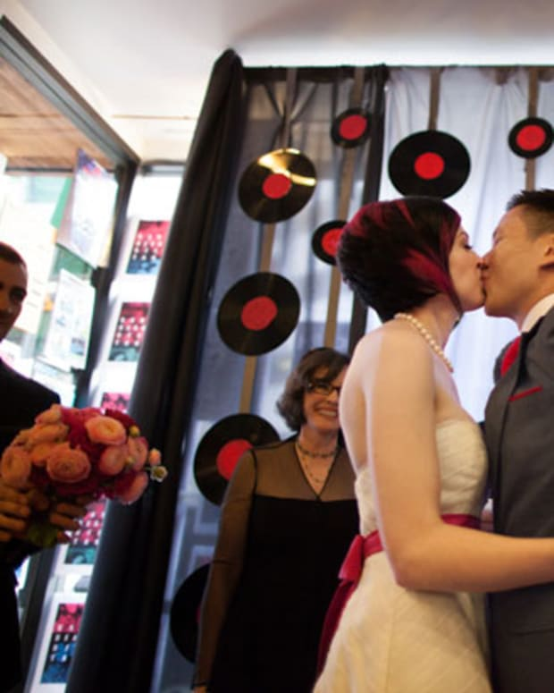 Where Do Chicago DJs Get Married? At Gramaphone Records, Duh!