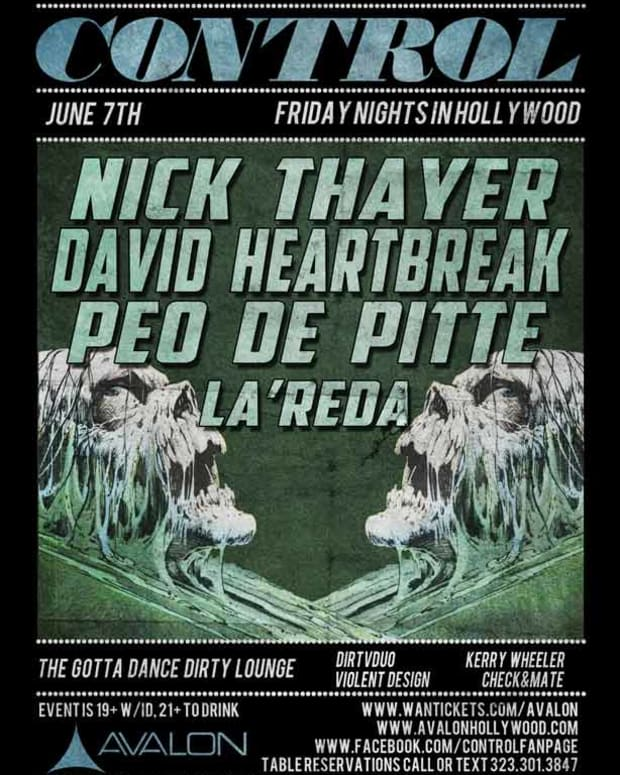 EDM Event - Control Tonight In LA With Nick Thayer, David Heartbreak, Peo De Pitte and LA'Reda