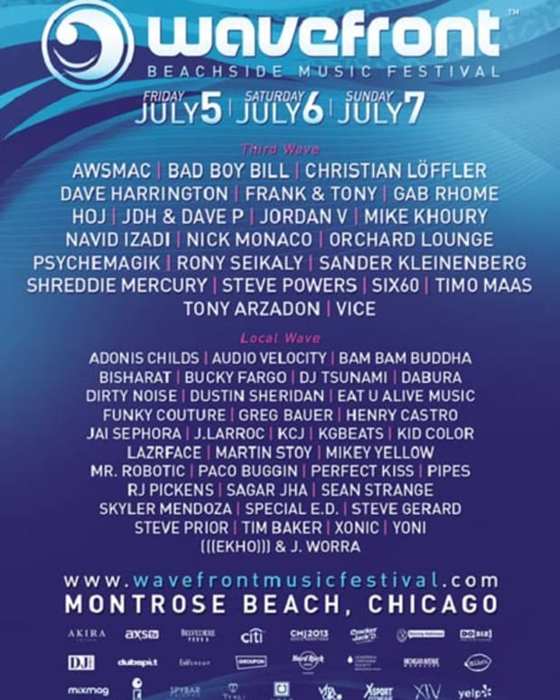 EDM Event: Bad Boy Bill, Rony Seikaly, Timo Mass And More To Join Wavefront Music Festival In Chicago