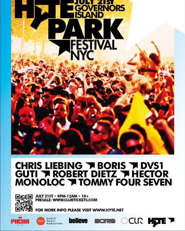 EDM Event: Chris Liebing, Boris, DVS1 And More To Play Governors Island HYTE Festival; Dedicated To The Modern Techno Underground