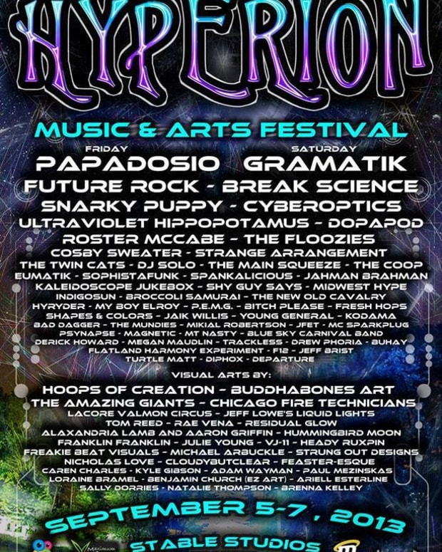 EDM Event: Hyperion Music & Arts Festival Featuring Gramatik, Papadosio, Future Rock And Break Science September 5th Through 7th