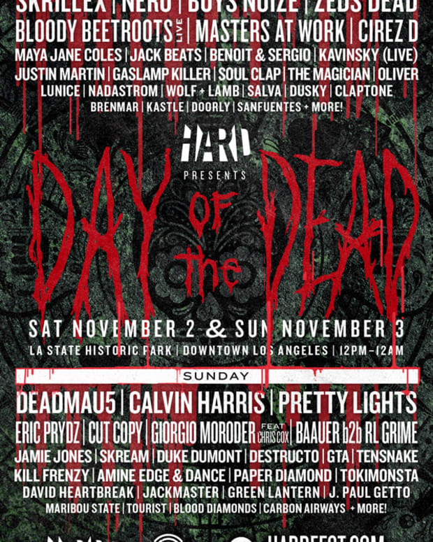 EDM Culture: Hard Announces Day Of The Dead Line Up Featuring Skrillex, Boys Noize, Deadmau5, Calvin Harris And Giorgio Moroder