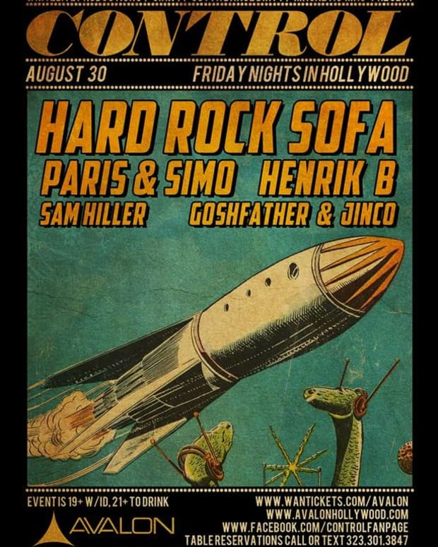 EDM Culture: Control @ Avalon Hollywood- Hard Rock Sofa, Paris & Simo, Henrik B, Sam Hiller And Goshfather & Jinco