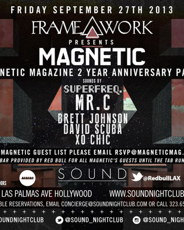 Magnetic Magazine's 2 Year Anniversary Party September 27th At Sound Nightclub In Hollywood