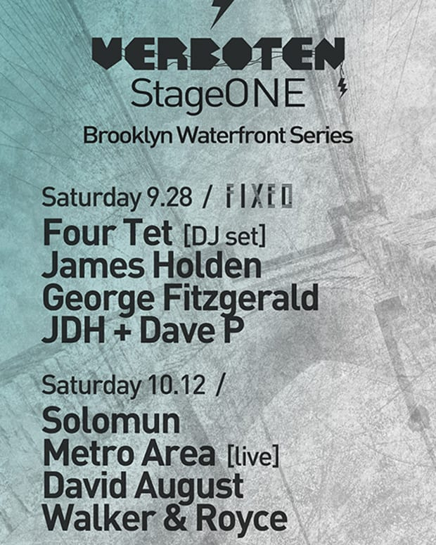 EDM News: Verboten Stage One 2013 Series Set To Close With Four Tet 9/28 & Solumun 10/2