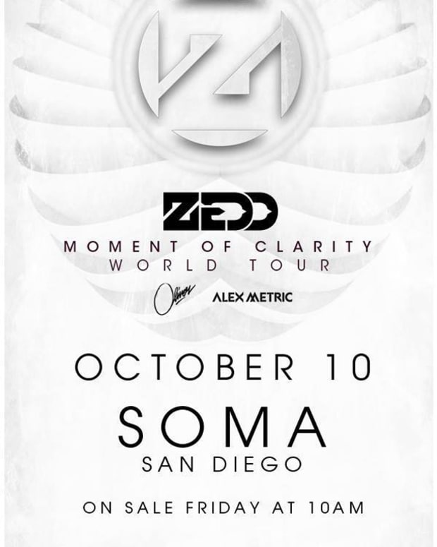 EDM Culture: LED Presents- Zedd: Moment of Clarity World Tour in San Diego
