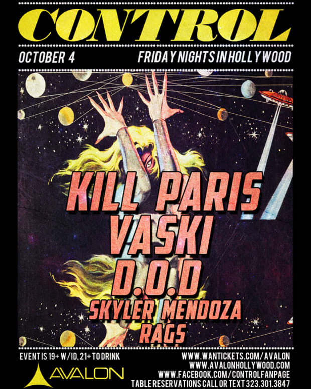 EDM News: Control LA Tonight With Kill Paris, D.O.D, Vaski, Skyler Mendoza And Rags