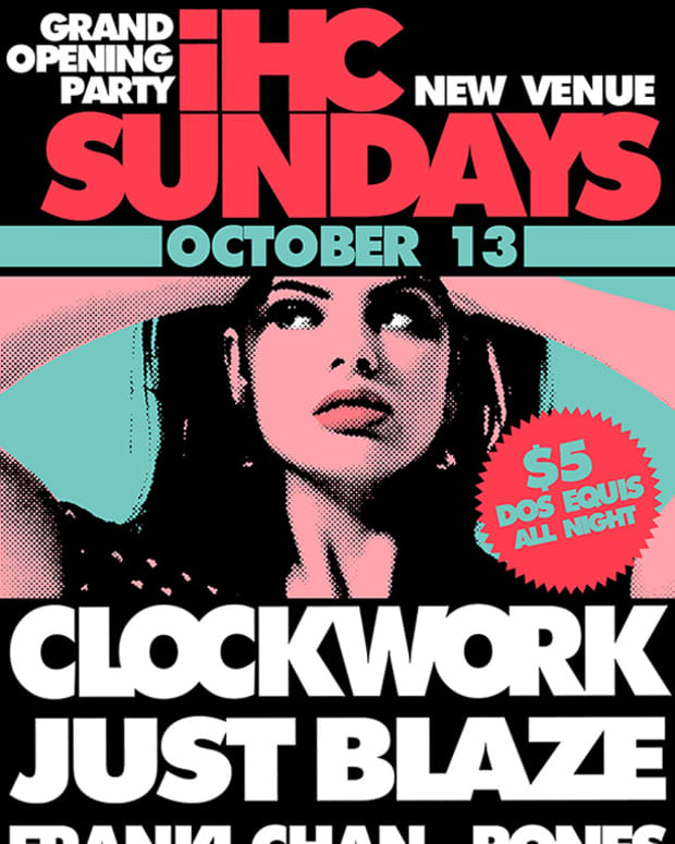 EDM News: The Grand Opening Of IHC Sundays With Clockwork & Just Blaze; Win Tickets And Bottle Service