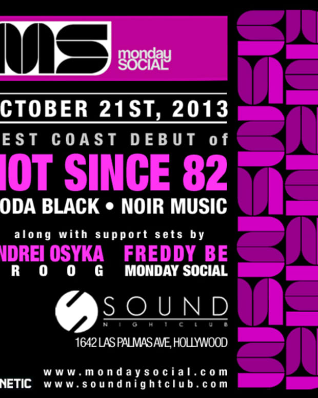 EDM Culture: Hot Since 82 Makes LA Debut Tonight At Monday Social; Little Black Book Out 10/22