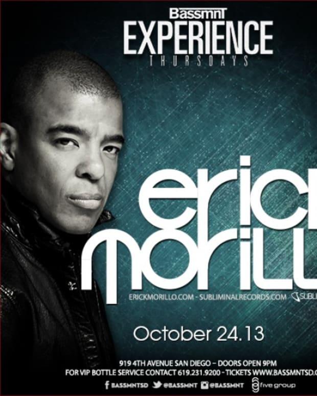 EDM News: Eric Morillo for Experience Thursdays at Bassmnt San Diego