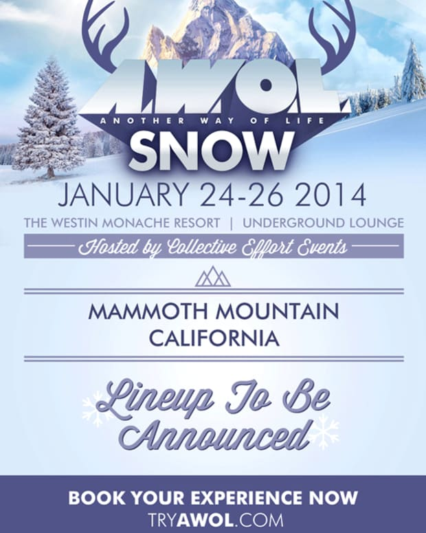 "Magnetic Event: AWOL Announces ""Snow"" January 24-26, 2014 Mammoth Mountain California"