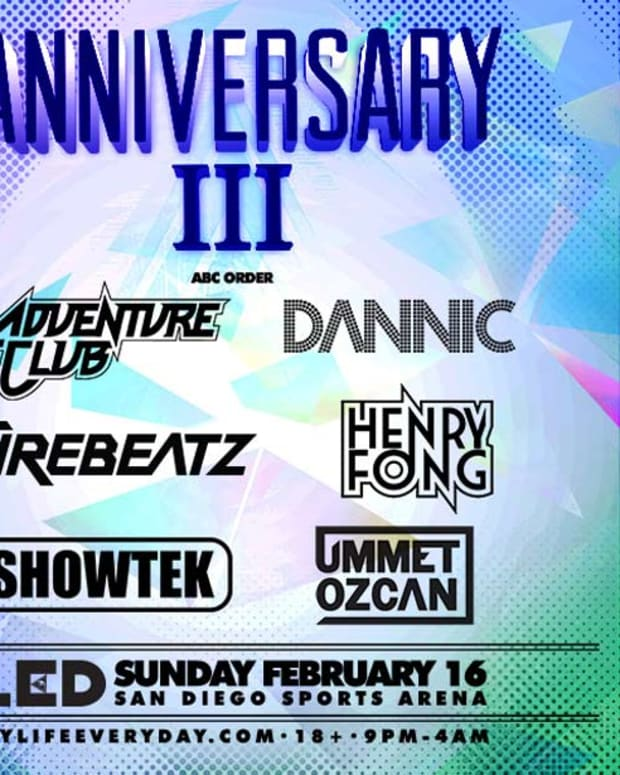 LED's Three Year Anniversary In San Diego With Adventure Club, Showtek, Ummet Ozcan & More - EDM News