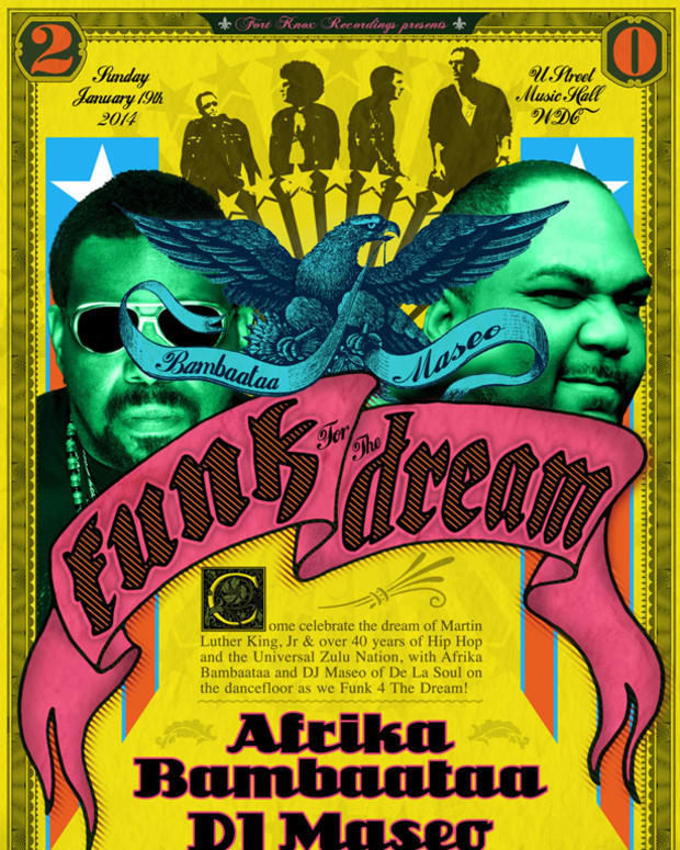 Special 'Funk For The Dream' Chart Honoring M.L.K And The Music Of Afrika Bambaataa & DE LA SOUL