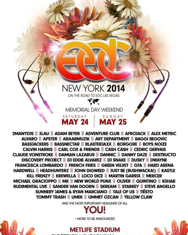 EDC New York Announces 2014 Memorial Day Lineup