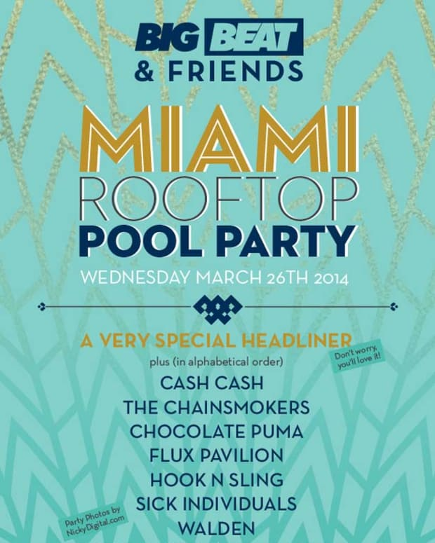 WMC Event Spotlight: Big Beat & Friends Rooftop Pool Party, Wednesday March 26th