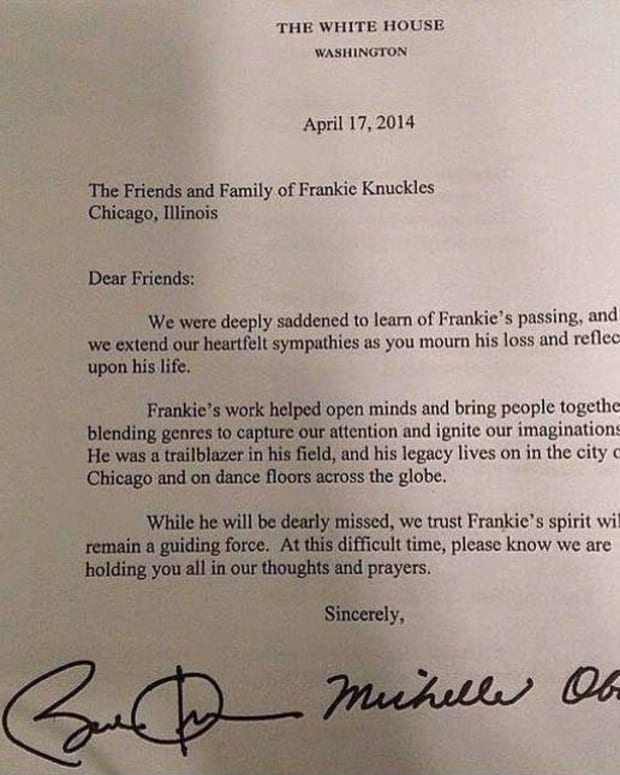 Barack And Michelle Obama Write Letter To Friends & Family Of Frankie Knuckles