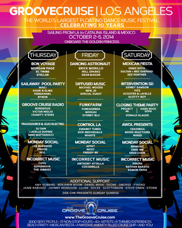 Groove Cruise LA Announces Full Lineup
