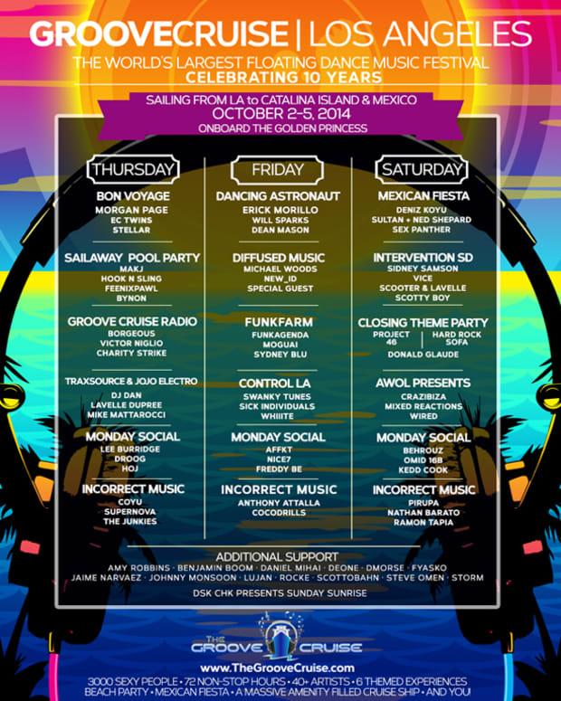 Groove Cruise LA Announces Full Lineup