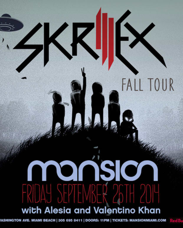 Skrillex will be kicking off Fall Tour at Mansion Nightclub in Miami Friday, September 26th!