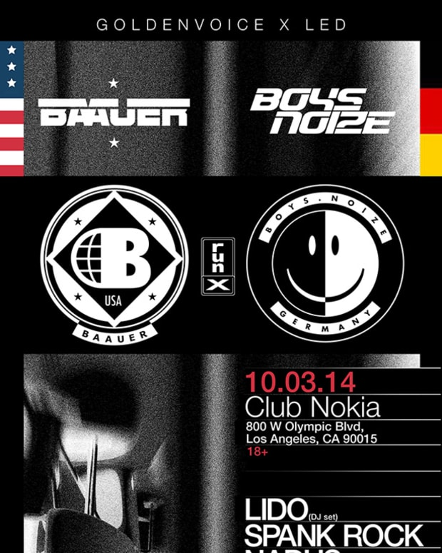 Boys Noize And Baauer 'Run-X' LA Date Still On