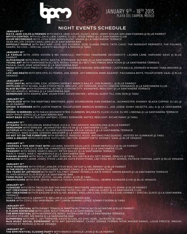 The BPM Festival Announces Complete Event Schedules