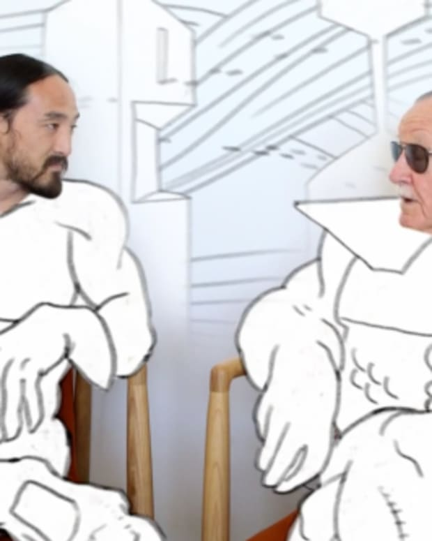 Steve Aoki Talks Apocalypse With Stan Lee