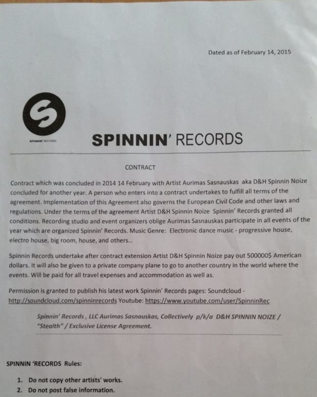 5 Steps To Signing A $500,000 Spinnin' Contract Without Talent