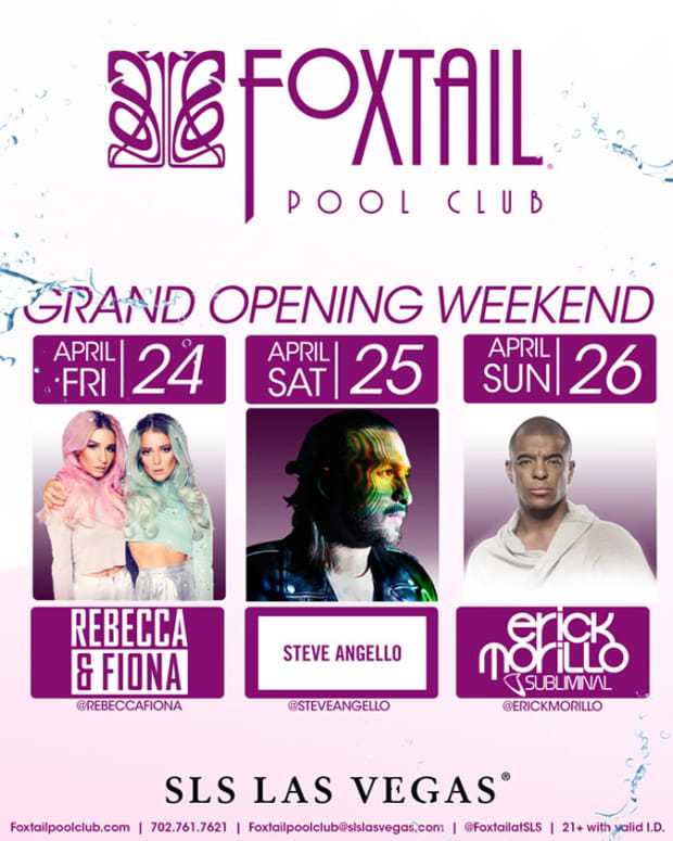 Foxtail Pool At The SLS Las Vegas Goes Big For Opening Weekend
