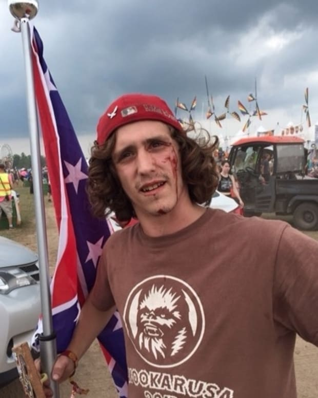 This Is What Happens When You Bring A Confederate Flag To A Festival