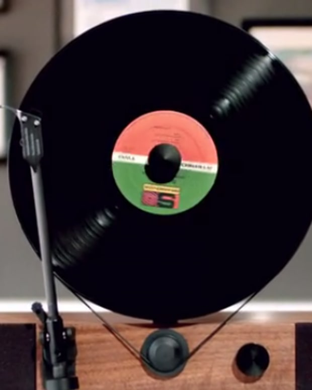 Watch: Incredible Turntable Spins Vinyl Records Vertically