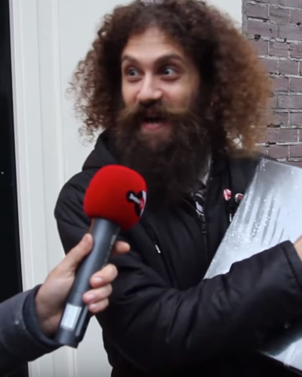 The gaslamp killer digs for records in amsterdam