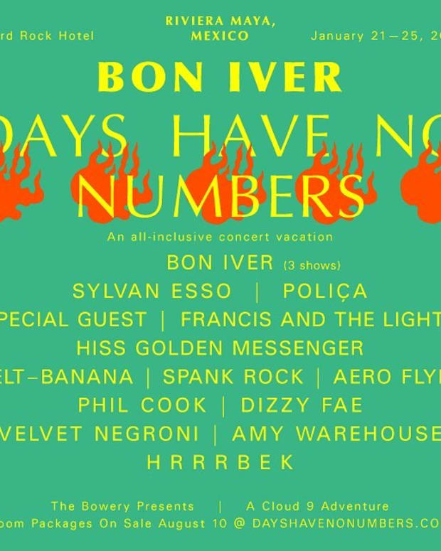 Bon Iver Days Have No Numbers Festival