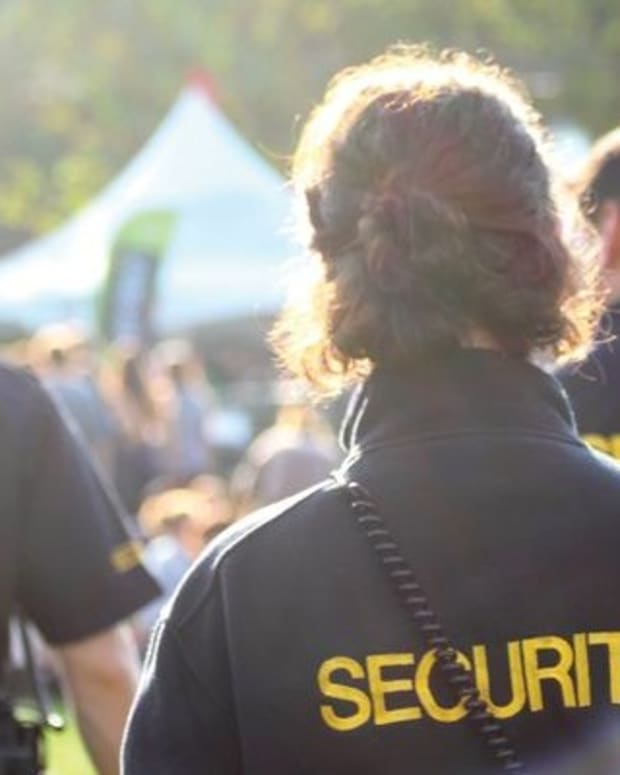 Festival security staff