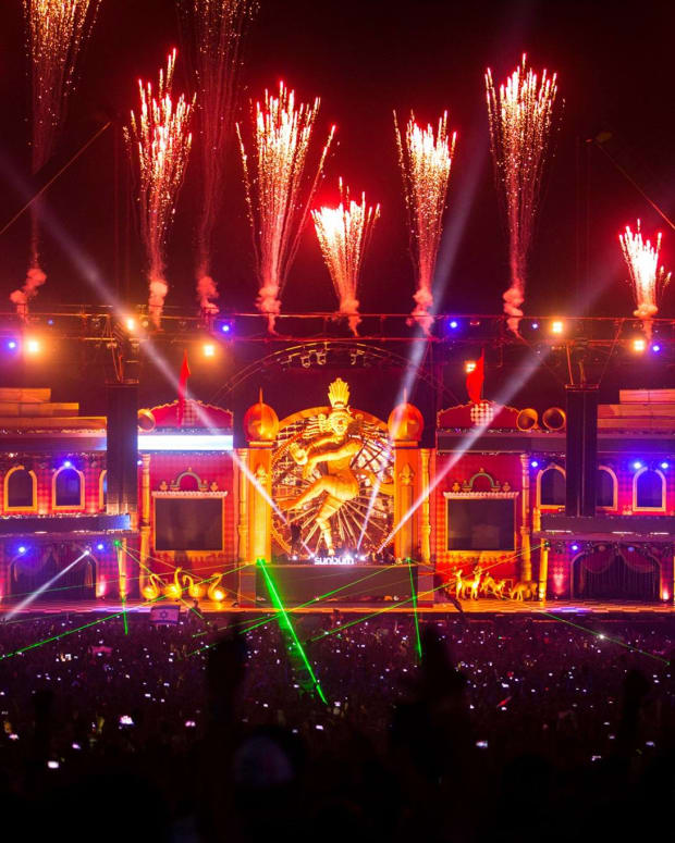 The 2015 edition of Sunburn Festival in Goa, India.